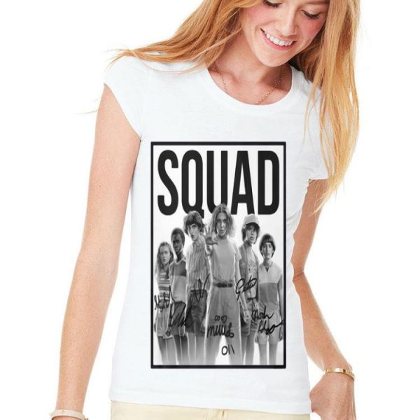 Characters Signatures Squad Stranger Things 3 shirt