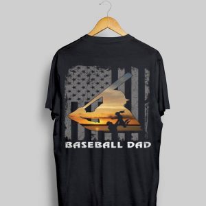 Daughters American Flag Baseball Dad shirt