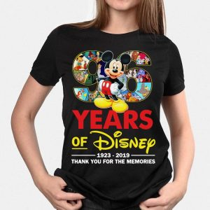 Disney Mickey 96 Years 1923-2019 Thank You For The Memories shirt