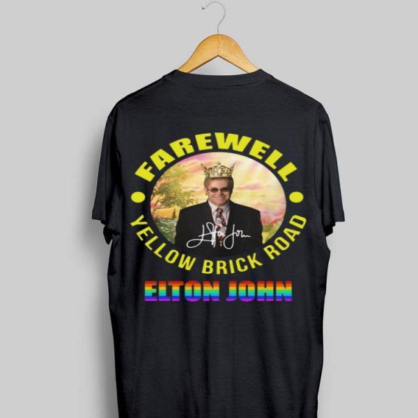 Elton John Farewell Yellow Brick Road Signature LGBT shirt