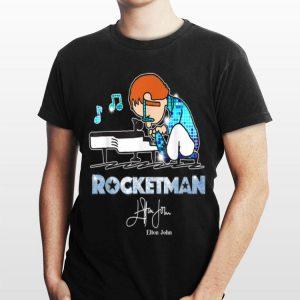 Elton John Playing Piano Rocketman Signature