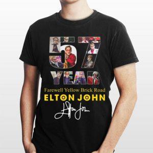 Elton John signature 57 Years Farewell Yellow Brick Road shirt