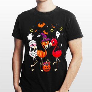 Flamingos happy halloween shirt