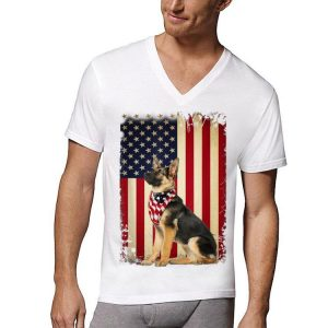 German Shepherd American Flag 4th of July Independence shirt