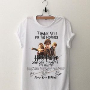 Harry Potter Thank You For The Memories Always Keep Fighting shirt