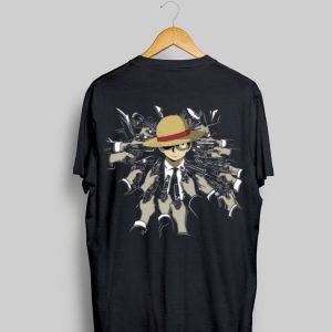 John Wick Parody Luffy shirt