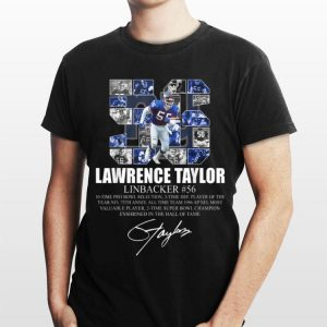 Lawrence taylor Linbacker 56 Signature shirt