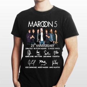 Maroon 5 25th Anniversary Signatures shirt