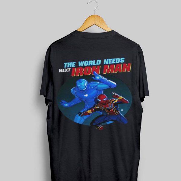Marvel Spider Man The World Needs Next Iron Man shirt