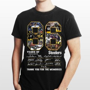 Pittsburgh Steelers 86 Years 1933-2019 Signatures shirt