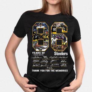 Pittsburgh Steelers 86 Years 1933-2019 Signatures shirt