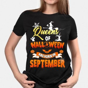 Queens Of Halloween Are Born In September shirt