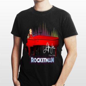 Rocketman Elton John Playing Piano Signature shirt