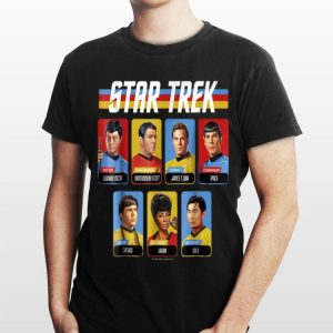 Star Trek Original Series Crew Retro Rainbow shirt