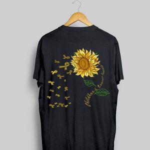 Sunflower Childhood Cancer Awareness Gold Ribbon shirt