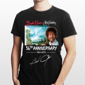 The Joy of Painting Bob Ross 36th Anniversary Signature shirt