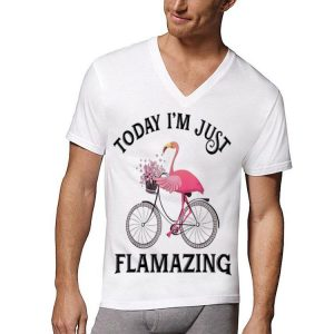 Today I'm Just Flamazing Flamingo Bicycle shirt