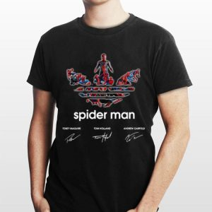 Adidas Spider Man Tobey Maguire Tom Holland Andrew Garfield Signature shirt