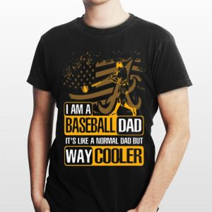 Alabama Crimson Tide I Am A Baseball Dad Way Cooler shirt