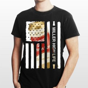 American Flag Miller High Life shirt