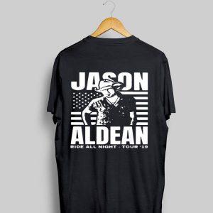 American flag Jason Aldean Ride All Night Tour shirt