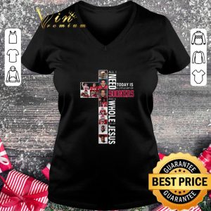 Cool All i need today is a little bit of Oklahoma Sooners Jesus shirt 1