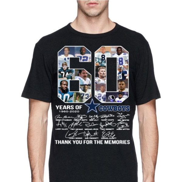 Dallas Cowboys 60 Years 1960-2020 Signatures shirt