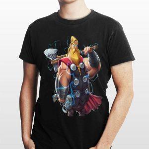 Fat Thor And Double Hammer Avenger Endgame shirt