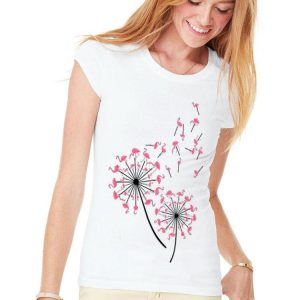 Flamingo Dandelion Flower shirt