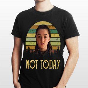 Game of Thrones Arya Stark Sunset Not Today shirt