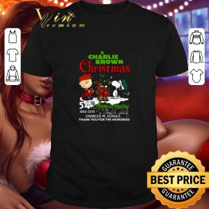 Hot A Charlie Brown Christmas 54th anniversary Charles M. Schulz shirt
