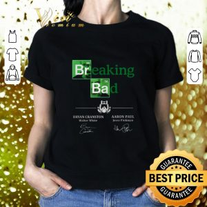 Hot Breaking Bad Bryan Cranston Aaron Paul Signatures shirt