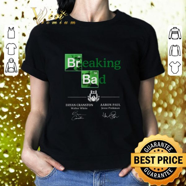Hot Breaking Bad Bryan Cranston Aaron Paul Signatures shirt