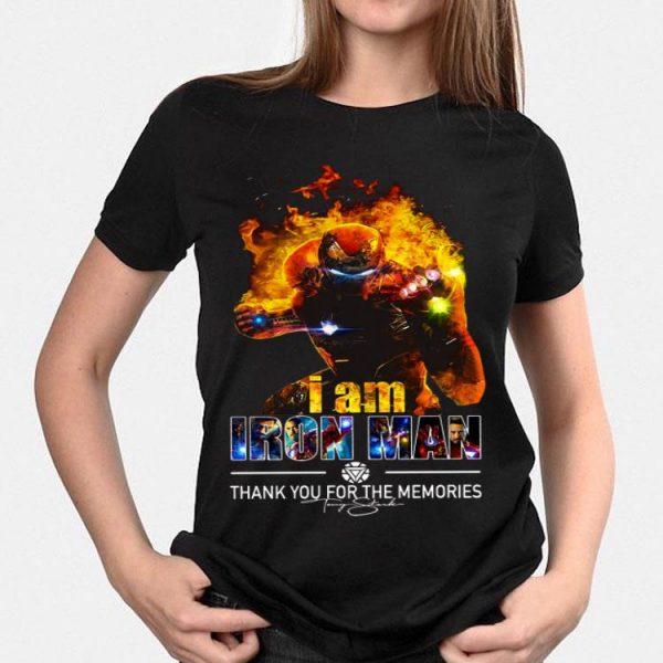 I Am Iron Man Thank You For The Memories Avengers Endgame shirt