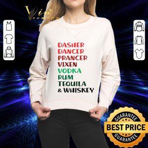 Nice Dasher Dancer Prancer Vixen Rum Tequila & Whiskey Christmas shirt