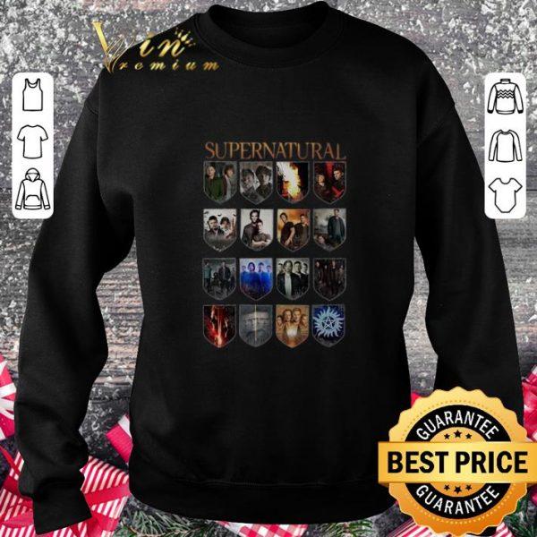 Nice Supernatural all season series episode shirt