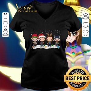 Nice Supernatural chibi characters cartoon Christmas shirt