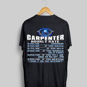 Skull Carpenter Hourly Rate shirt