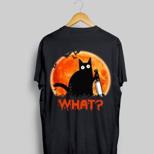 Sunset Black Cat What Halloween shirt