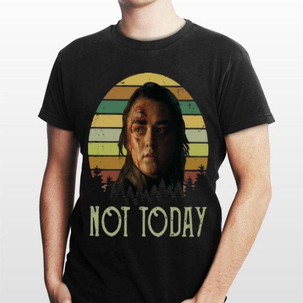 Sunset Game of Thrones Arya Stark Not Today shirt