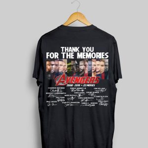 Thank You For The Memories Avengers 2008-2019 22 Movies Signatures shirt