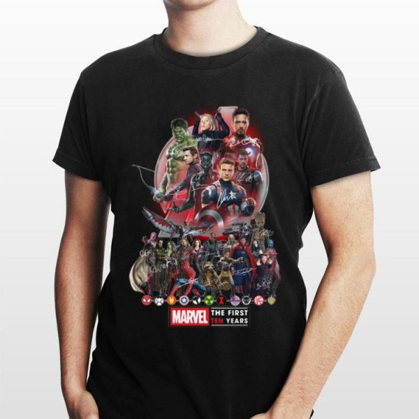 The First Ten Years Marvel Avengers Endgame Signatures shirt