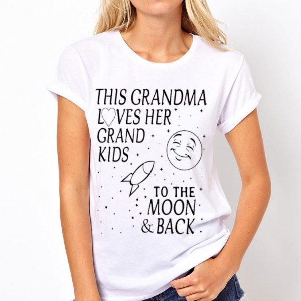 This Grandma Loves Her Grand Kids To The Moon And Back shirt