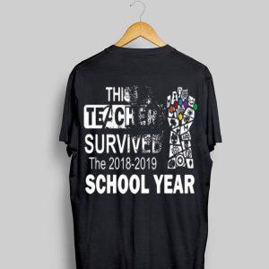 This Teacher Survived The 2018-2019 School Year Avenger shirt