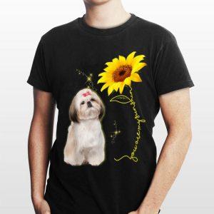 You Are My Sunshine Sunflower Shih Tzu shirt