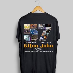 57 Years Of 1962-2019 Elton John Thank You For The Memories Signature shirt