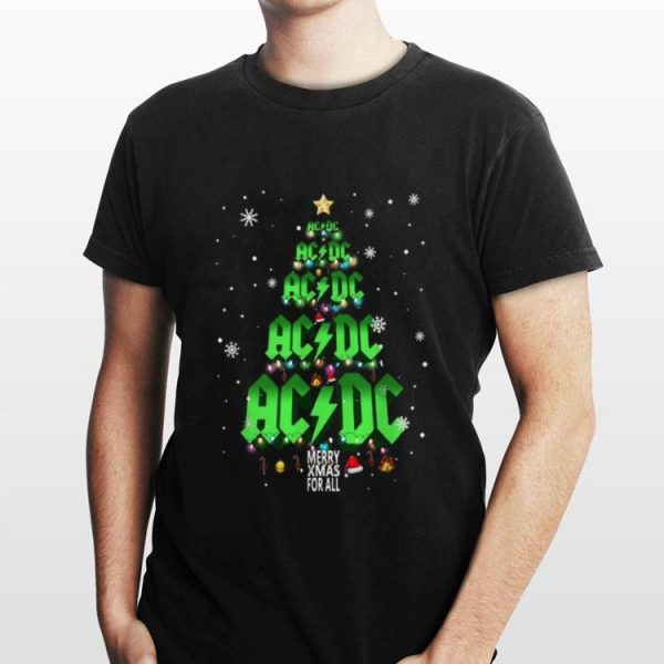 ACDC Merry Xmas for all Christmas tree shirt