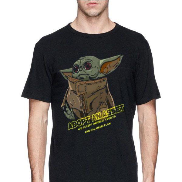 Adopt an asset we accept imperial credits and calamari flan Baby Yoda sweater