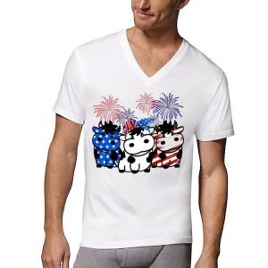 America Flag Cow Red White And Blue shirt