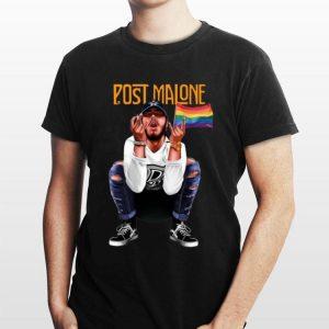 American Rapper LGBT Flag Post Malone shirt